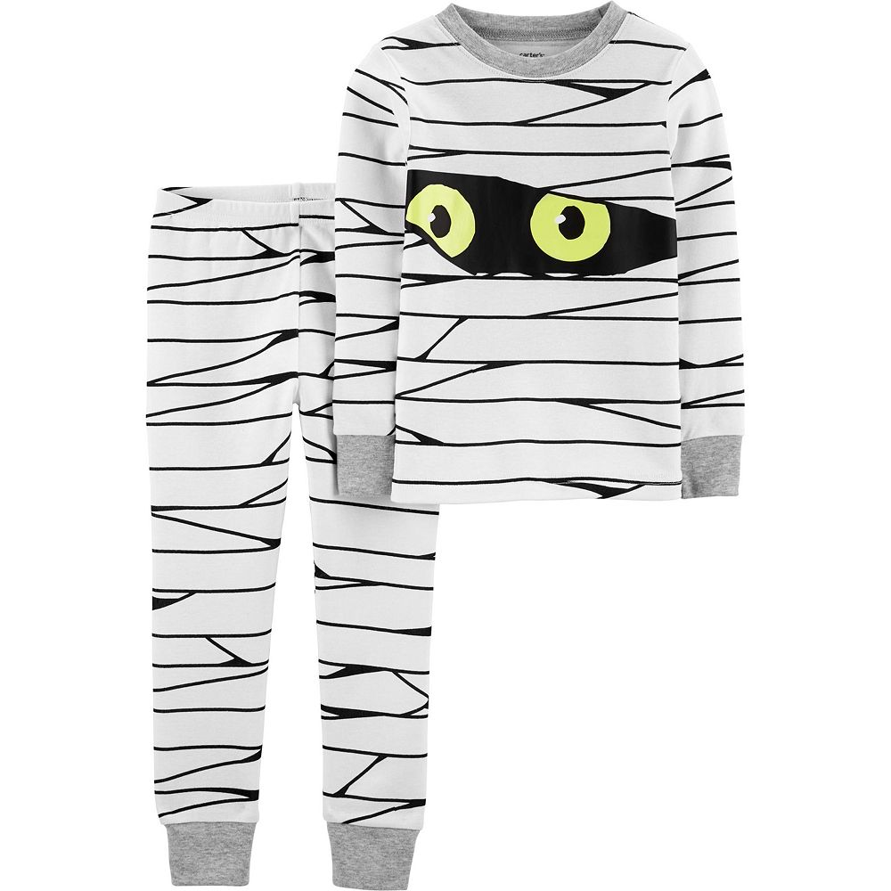 Toddler Boy Carter's 2-Piece Glow-In-The-Dark Mummy Snug Fit Cotton Pajama Set
