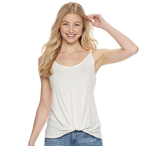 Juniors' SO® Twist-Front Tank