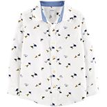 Boys 4-14 Carter's Dinosaur Oxford Button-Front Shirt