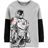 Boys 4-14 Carter's Robot Glow-in-the-Dark Layered-Look Jersey Tee