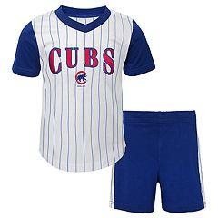 Toddler Boy Chicago Cubs Little Hitter Tee   Shorts Set a53a90fb2