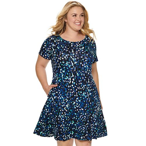 NEW! Plus Size EVRI Fit & Flare Dress