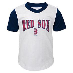 Toddler Boy Boston Red Sox Little Hitter Tee & Shorts Set