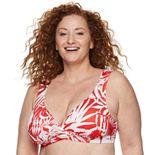 Plus Size EVRI Palm Leaf Bikini Top