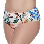 Plus Size EVRI Tummy Slimmer High-Waisted Bikini Bottoms