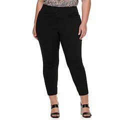 Plus Size EVRI Ponte Ankle Pants