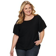 NEW! Plus Size EVRI Bell Sleeve Tee