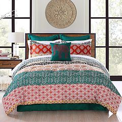 Lush Decor Bohemian Stripe Comforter Set