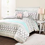 Lush Decor Elephant Stripe Comforter Set
