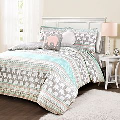 Lush Decor Elephant Stripe Comforter Set
