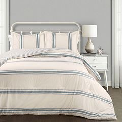 Lush Decor Farmhouse Stripe Comforter Set