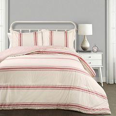 Lush Decor Farmhouse Stripe Comforter Set