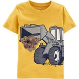 Toddler Boy Carter's Sequin Construction Bulldozer Tee