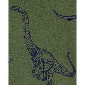 Toddler Boy Carter's Dinosaur Zip-Up Fleece-Lined Hoodie