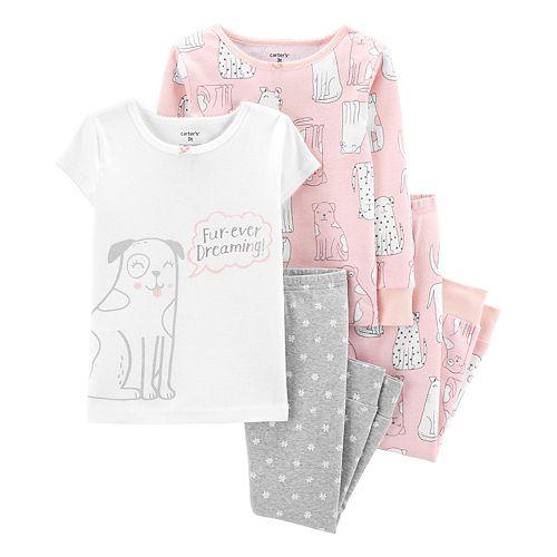 Toddler Girl Carter's Dog Print Top & Bottoms Pajamas