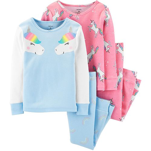 Toddler Girl Carter's 4-Piece Unicorn Snug Fit Cotton PJs