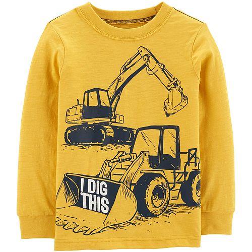 Toddler Boy Carter's Construction Truck Jersey Tee