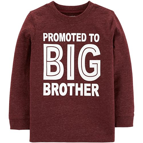 Toddler Boy Carter's Promoted To Big Brother Tee