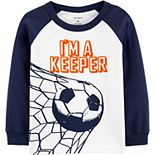 Toddler Boy Carter's I'm A Keeper Soccer Raglan Tee