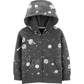 Toddler Boy Carter's Space Zip-Up Fleece-Lined Hoodie