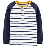 Toddler Boy Carter's Striped Long-Sleeved Jersey Tee