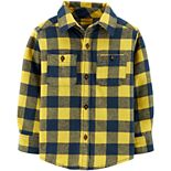 Toddler Boy Carter's Plaid Twill Button-Front Shirt