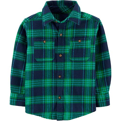Toddler Boy Carter's Plaid Twill Button-Front Shirt