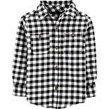 Toddler Boy Carter's Checkered Twill Button-Front Shirt