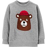 Toddler Boy Carter's Bear Fleece Sweatshirt