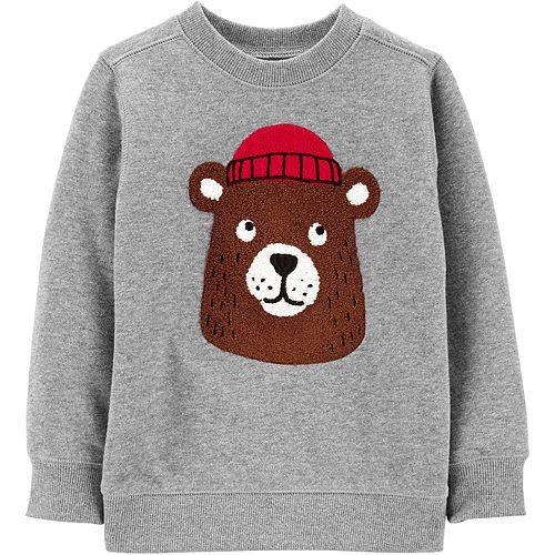 Toddler Boy Carter's Bear Fleece Sweatshirt