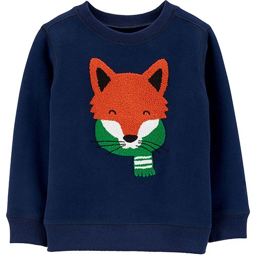 Toddler Boy Carter's Fox Fleece Sweatshirt