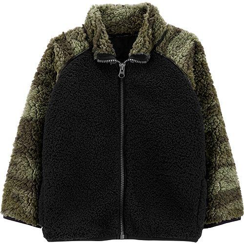 Toddler Boy Carter's Zip-Up Sherpa Jacket
