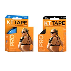 KT Tape Pro Sonic Blue & Jet Black Tape Bundle