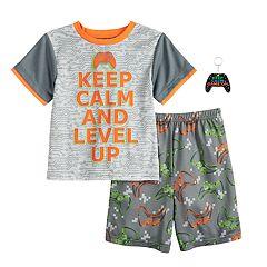 Boys 4-12 Graphic 2-Pajama Set & Toy