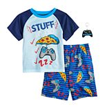 Boys 4-12 Graphic 2-Pajama Set & Toy