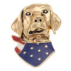 Pet Friends Flag Dog Pin
