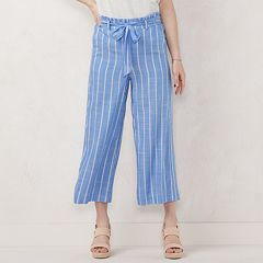 Petite LC Lauren Conrad Wide-Leg Crop Pants