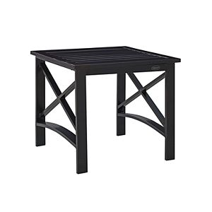 Sunjoy Steel Side Table with Removable Tray Blue 110206035-B