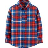 Boys 4-14 Carter's Plaid Twill Button Down Shirt