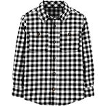 Boys 4-14 Carter's Checkered Twill Button-Front Shirt