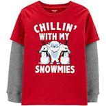 Boys 4-14 Carter's Snowman Homies Layered-Look Tee