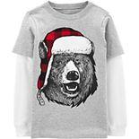 Boys 4-14 Carter's Winter Bear Mock Layer Tee