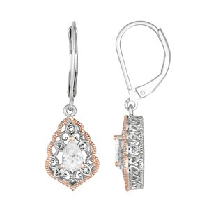 Lily & Lace Open Work Pear-Cut Cubic Zirconia Drop Earrings