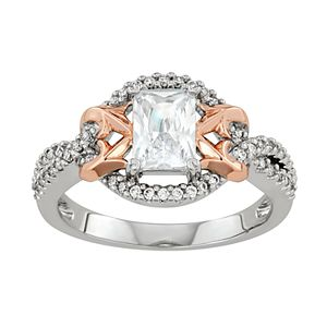 Lily & Lace Cubic Zirconia 14k Rose Gold Over Bronze Ring