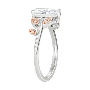 Lily & Lace Cubic Zirconia Pear Cut Leaf Two-Tone Ring