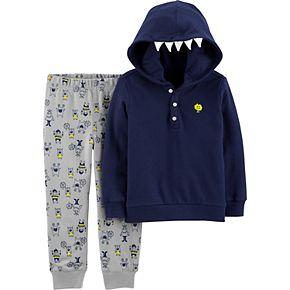 Toddler Boy Carter's 2-Piece Monster Hoodie & Jogger Set