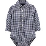 Baby Boy OshKosh B'gosh® Gingham Button-Front Bodysuit