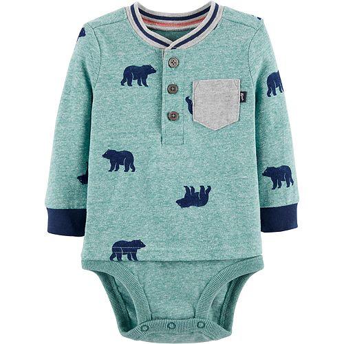 Baby Boy OshKosh B'gosh® Bear Double Decker Bodysuit