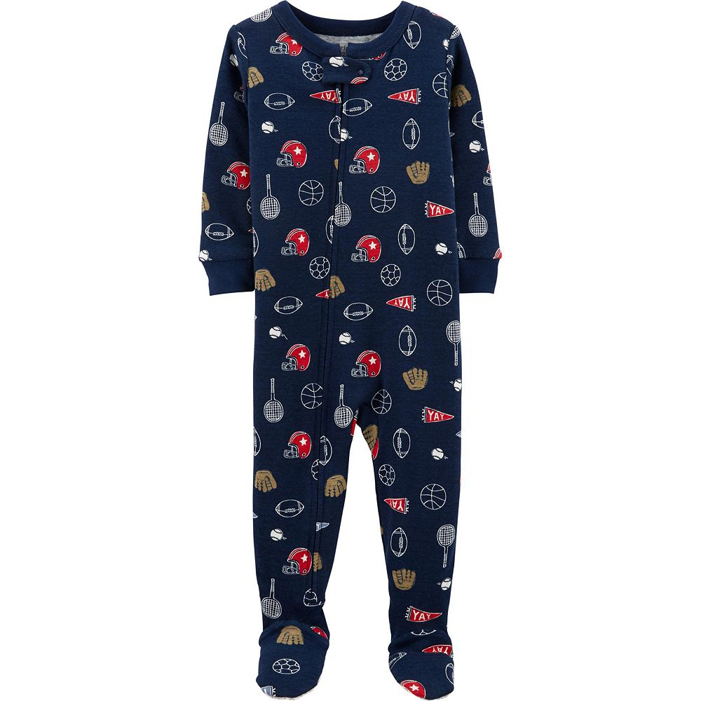 Toddler Boy Carter's Sports Footed Pajamas