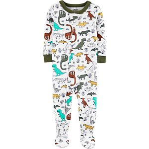 Toddler Boy Carter's Dinosaur Print Footed Pajamas